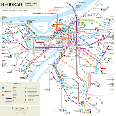 mapa beograda bus Belgrade map mapa beograda bus