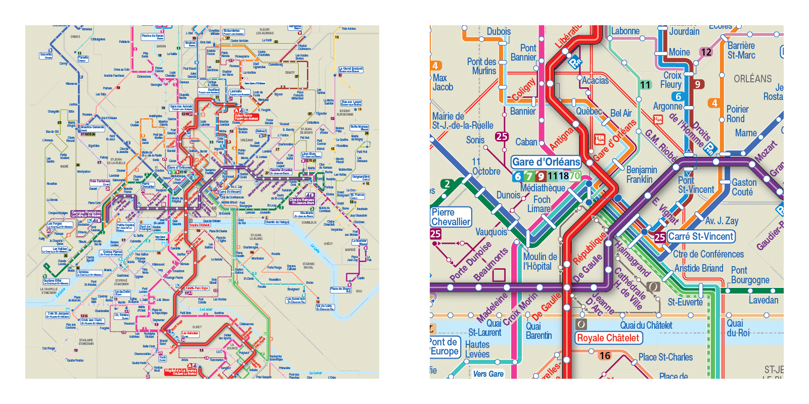 European Bus maps