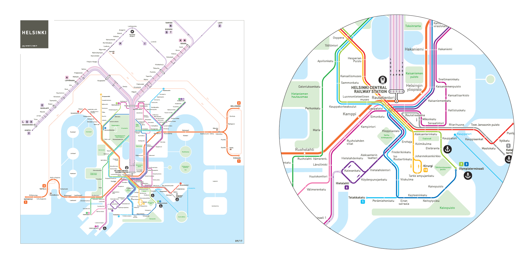 Helsinki Metro Map Mapping and Wayfinding