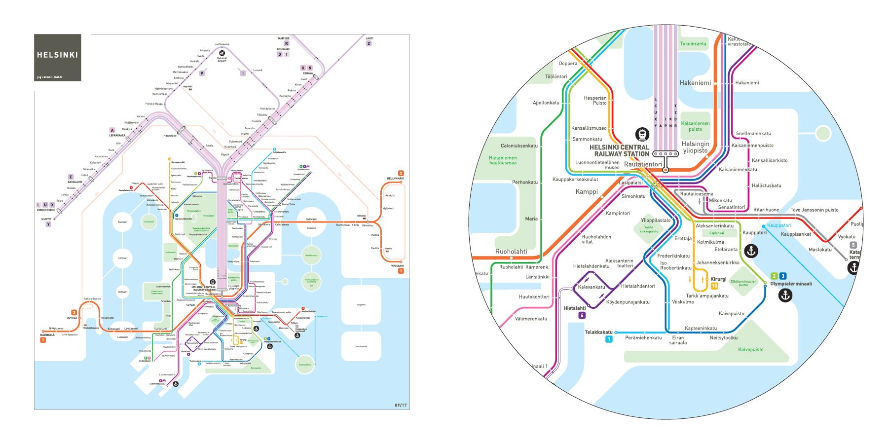 2 3 Train Subway Map.Helsinki Metro Map Inat
