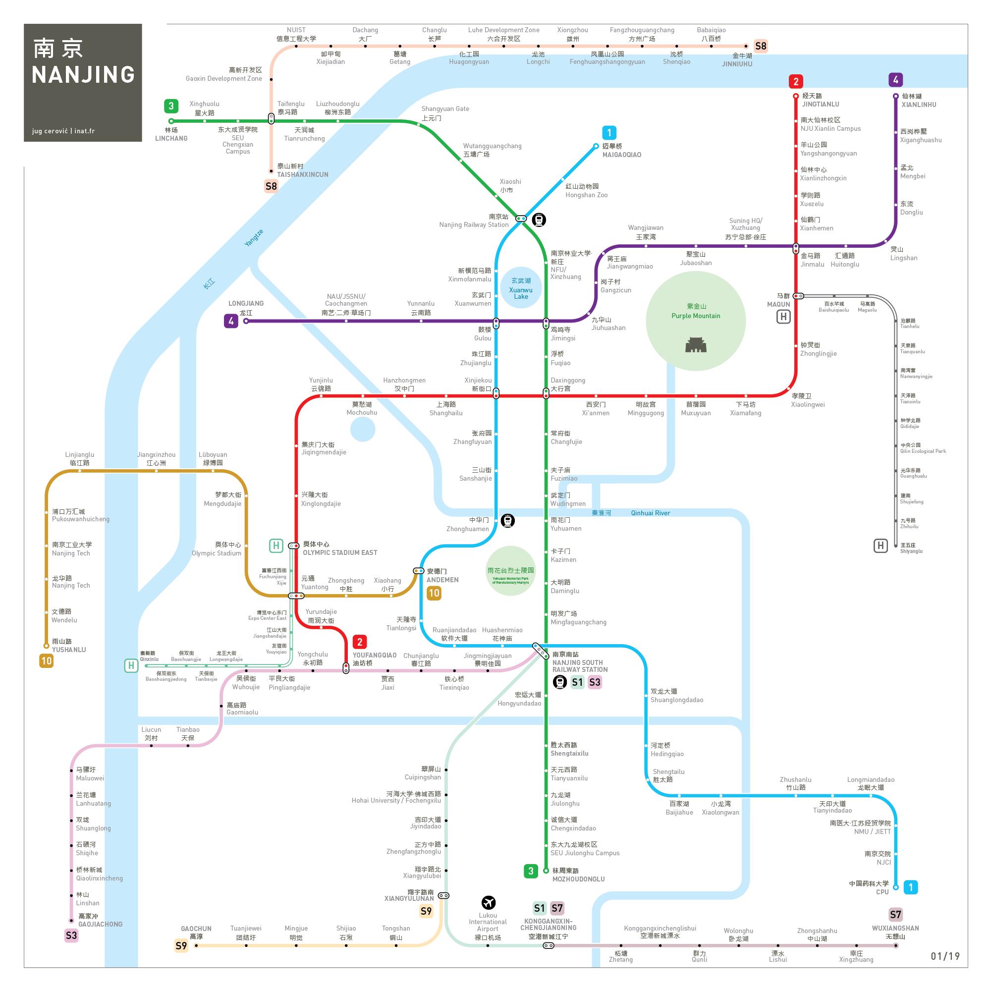 Nanjing metro map