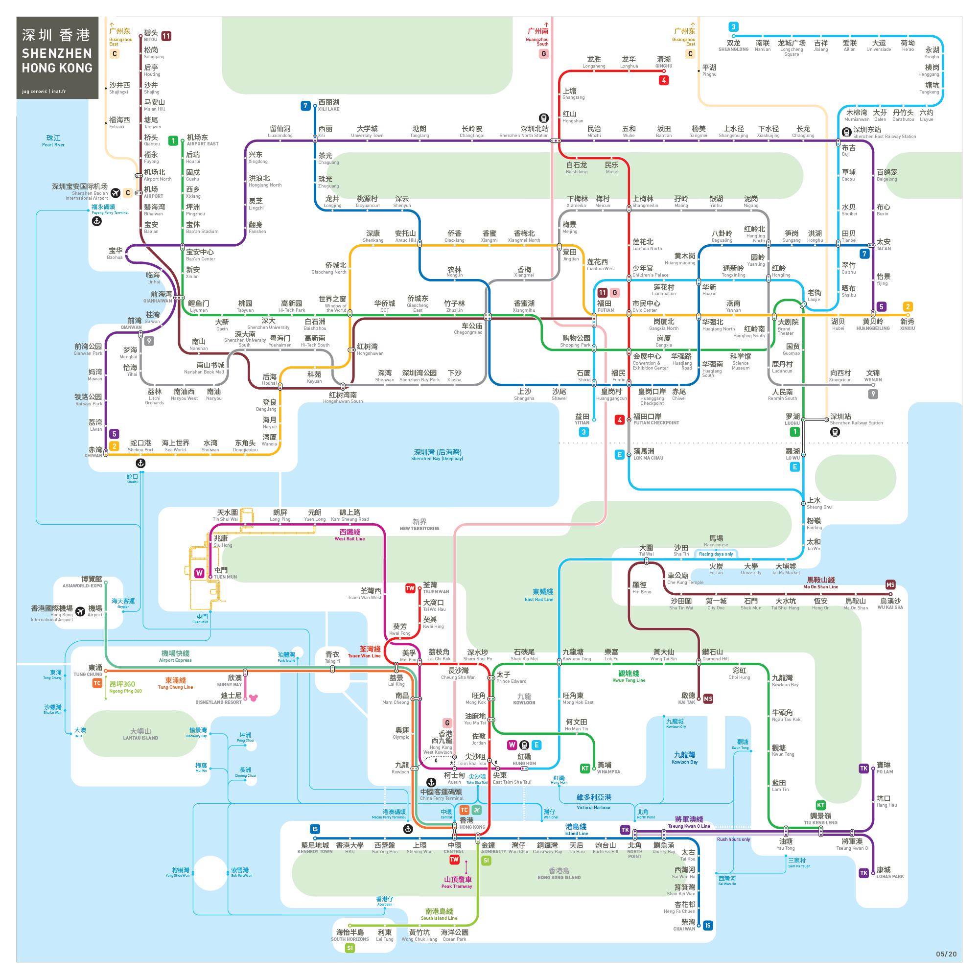 Shenzhen metro map