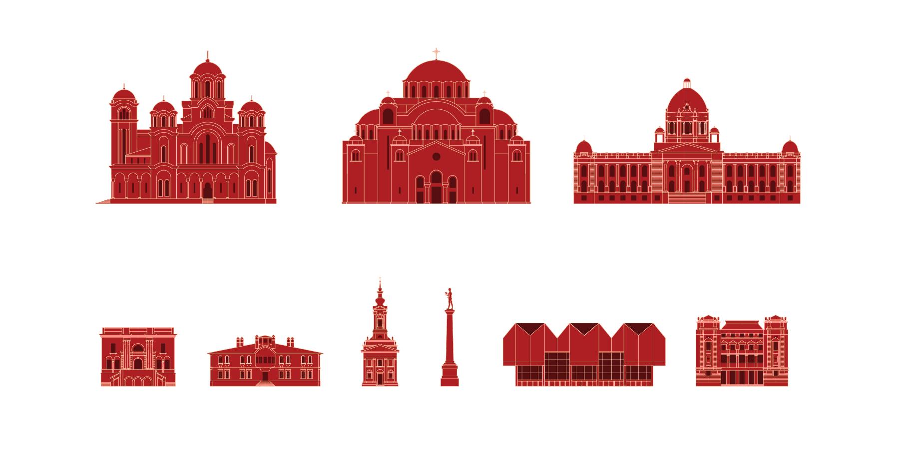 Belgrade wayfinding totems