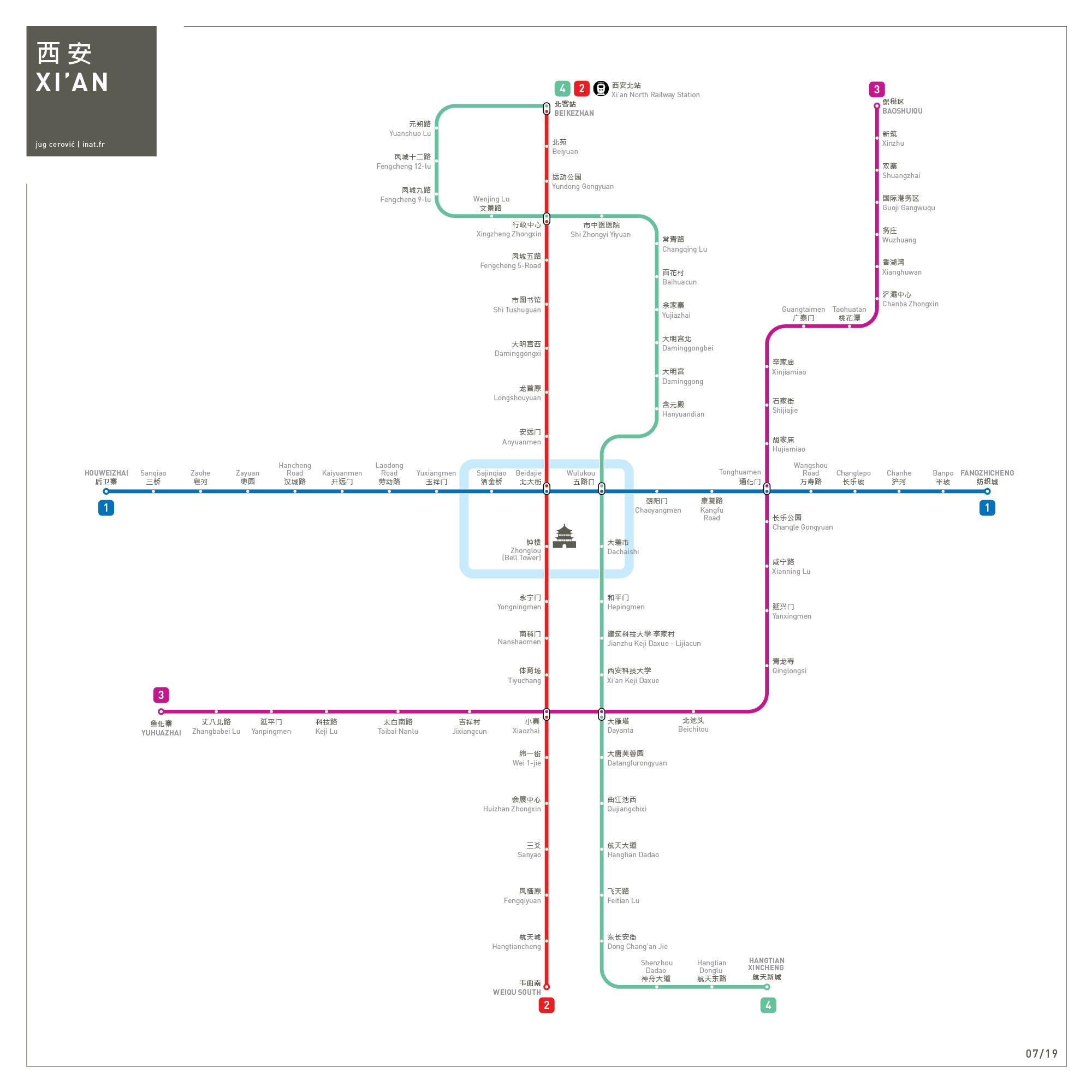 Xian metro map